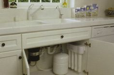 A reverse osmosis system will provide clean drinking water for the kitchen sink.