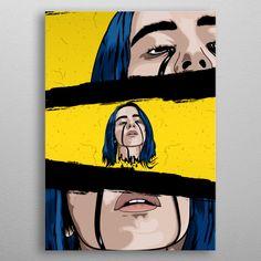 Large Collection of Billie Eilish Colorful Pop Art Prints Cute Canvas Paintings, Small Canvas Art, Easy Canvas Painting, Mini Canvas Art, Art Mini Toile, Art Sketches, Art Drawings, Arte Do Hip Hop, Art Du Croquis