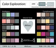 Eva Maria Keiser Designs: Color Harmony: Glacier Gray [#bfcacc]