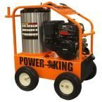 Power King 4,000 PSI 3.5 GPM Gasoline Powered Commercial Hot Water Pressure Washer, Oil-Fired, 14HP Kohler Pro Engine, Triplex Pump