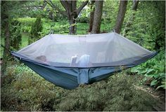 The Netted Cocoon Hammock......cozy reading space in the comfort of nature and NO BUGS....YES,YES,YES!!!