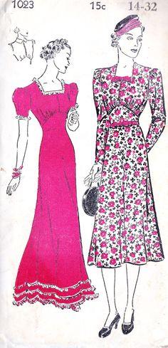 1930s Misses Dress