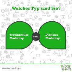 Welcher Typ sind Sie?   #TraditionalMarketing #DigitalMarketing #Marketing