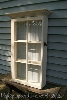 Repurposed Window, Window Cabinet,Glass Wall Cabinet
