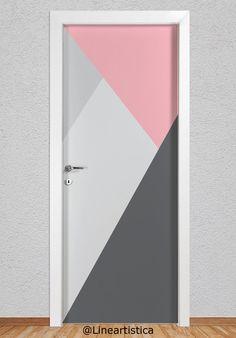 Painted Bedroom Doors, Bedroom Paint Design, Bedroom Wall Designs, Room Ideas Bedroom, Painted Doors, Bedroom Decor, Bedroom Door Decorations, Room Wall Painting, Wooden Door Design