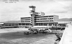 Bogota, Colombia Airport with an Avianca Constellation - williamdemarest.com Cn Tower, Airplanes, Places Ive Been, Aviation, Aircraft, City, World, Building, Photography
