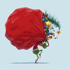 Artes de Yarrow Cheney para o filme The Grinch, da Illumination Le Grinch, The Grinch Movie, Grinch Stole Christmas, Christmas Love, Christmas Medley, Christmas Carol, Christmas Wallpaper Iphone Tumblr, Cute Christmas Wallpaper, Holiday Wallpaper