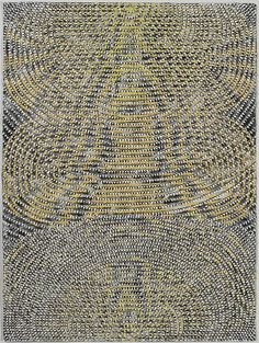 """Christopher Fennell. 'Call and Response'  powdered pigment in acrylic dispersion and collage on paper  2007  30""""x 22"""""""