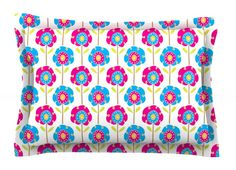 Lolly Flowers by Apple Kaur Designs Cotton Pillow Sham,