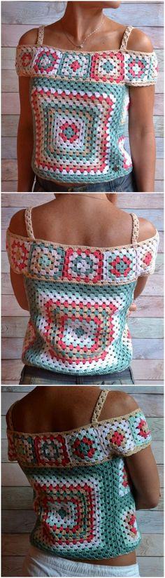 Easy Crochet Top Patterns for Beginners Crochet For Kids, Easy Crochet, Knit Crochet, Knitting Patterns, Crochet Patterns, Crochet Ideas, Single Crochet Stitch, Crochet Woman, Crochet Blouse