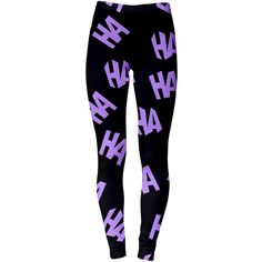 Joker Leggings ($40) ❤ liked on Polyvore featuring pants, leggings, bottoms, black, grey, women's clothing, grey trousers, gray pants, legging pants and gray leggings
