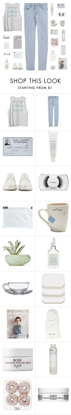 """""""jaws."""" by serendipityagain ❤ liked on Polyvore featuring RVCA, J Brand, Fresh, Dr. Martens, MAC Cosmetics, Maison Margiela, Chen Chen & Kai Williams, Drybar, COVERGIRL and Calvin Klein"""