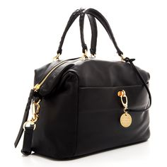 The Sutton Satchel in Black by Henri Bendel