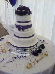 Purple Horse wedding cake