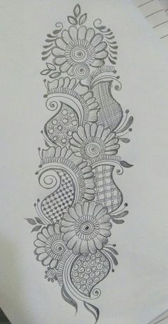 40 Easy Flower Pencil Drawings For Inspiration Full Mehndi Designs, Peacock Mehndi Designs, Henna Art Designs, Indian Mehndi Designs, Mehndi Designs For Girls, Mehndi Designs For Beginners, Mehndi Designs For Fingers, Wedding Mehndi Designs, Mehndi Design Pictures