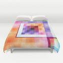 duvet cover Squares abstract by Christine Baessler
