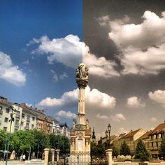 Fő tér itt: Szombathely, Vas megye San Francisco Ferry, Four Square, Big Ben, Building, Travel, City Landscape, Budapest, Hungary, 19th Century