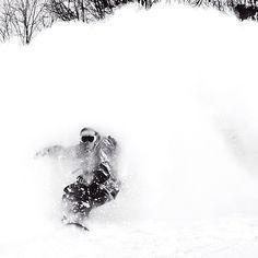 @Filippo Kratter in the white room! #pow #powder #snowboard