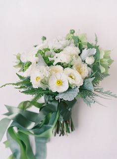 stunning white and green bouquet by Mindy Rice Design