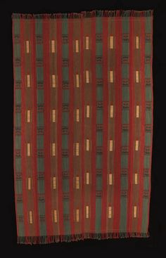 Man's Mantle, Naga People, Northeast India - 20th century - Cotton, natural and synthetic dyes