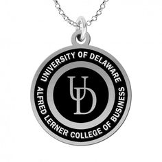College Jewelry University of Delaware Blue Hens Stainless Steel Adjustable Bangle Bracelet with Yellow Gold Plated Round Charm