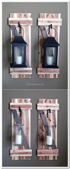 wood-pallet-lantern-craft #rustichomedecor