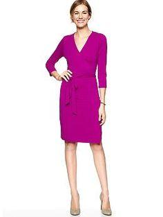 Solid Wrap Dress (Rose). Gap. $54.95