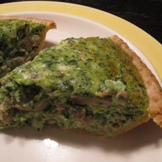 Spinach Souffle Quiche @keyingredient #cheese #pie #soup