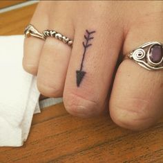 small arrow finger tattoo #ink #youqueen #girly #tattoos