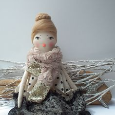 Cloth doll with handpainted face by #cherrygardendolls #doll #clothdoll #plushdoll #fabricdoll #ballerina