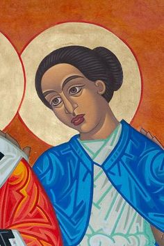 Theosebia | All Saints Company. The Dancing Saints Icons project at Saint Gregory Nyssen Episcopal Church, San Francisco is a multi-year installation project supported by All Saints Company, the congregation of Saint Gregory Nyssen Church and many donors and benefactors. The iconographer is Mark Dukes.