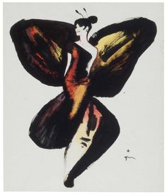 René Gruau | Lady Butterfly, 1965