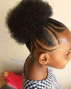 2020 Cute Braided Hairstyles for Pretty Kids - Naija's Daily Toddler Braided Hairstyles, Lil Girl Hairstyles, African Braids Hairstyles, African Hairstyles For Kids, African American Girl Hairstyles, Daily Hairstyles, Everyday Hairstyles, Natural Hair Braids, Braids For Black Hair