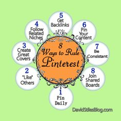 HOW TO RULE PINTEREST! 8 WAYS TO FORTUNE. From: DavidStilesBlog.com