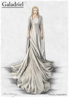 #Galadriel costume concept art for The Desolation of Smaug by designer Anne Maskrey. #TheHobbit #CateBlanchett