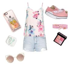 """""""Summer"""" by elinaelina-1 ❤ liked on Polyvore featuring Topshop, Dorothy Perkins, Converse, Casetify, MANGO and Givenchy"""