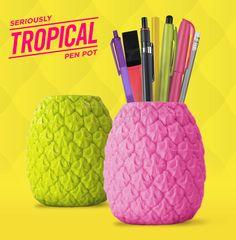 Pen Pot ; Penpot ; Stationery ; Stationary ; Green ; Pineapple ; Fruit ; Tropical ; Summer ; Festival ; Exotic ;   Pen Pot ; Penpot ; Stationery ; Stationary ; Pink ; Pineapple ; Fruit ; Tropical ; Summer ; Festival ; Exotic ;