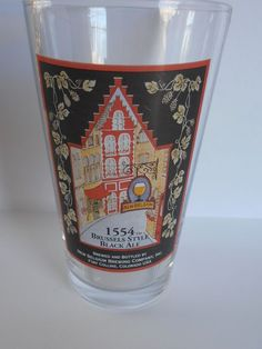 BELGIUM BREWING Craft Beer glass 1554 BRUSSELS STYLE BLACK ALE old style