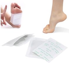 10 Packets Detox Foot Pads Foot Patch Detoxify Toxins Feet with Adhesive Sheets Foot Odour Health Care Tool