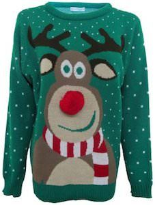 Rudolph The Red Nose Reindeer Christmas Sweater.