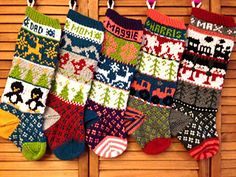Ravelry: Rustic Fair Isle Christmas Stockings pattern by Simply Serving Designs Knitted Christmas Stocking Patterns, Knitted Christmas Stockings, Christmas Knitting, Baby Christmas Stocking, Xmas Gifts, Fair Isle Knitting, Knitting Socks, Baby Knitting, Knitting Patterns Free