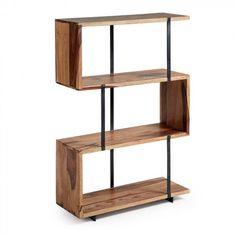 Étagère Awin - Kave Home Walnut Bookcase, Etagere Bookcase, Bookcase Storage, Bookshelves, Wall Shelves, Shelving, Zig Zag Shelf, Mood Board Interior, Molde