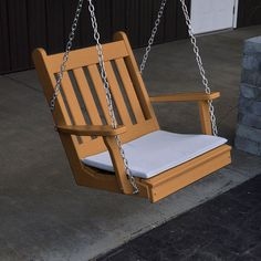 Recycled Plastic Traditional English Swing Chair