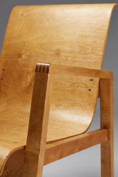 Chair designed by Alvar Aalto for Artek, Finland. 1950's image 8