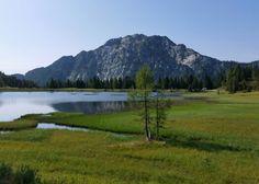 Passo Pramollo lake, Austria