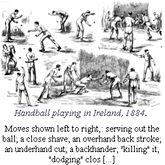 Handball playing in Ireland 1884 Real Tennis, Close Shave, Ireland, Handball, Tennis, Irish
