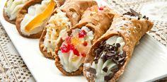Originário de Palermo, no sul da Sicília, os cannoli são bem populares na cozinha italiana