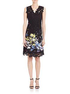 Elie Tahari - Tinley Stretch-Cotton Dress