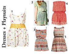 Festival Style - Dresses + Playsuits