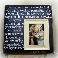 For maid of honor....Awwwwww